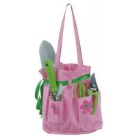 Růžová sada zahradního nářadí - taška