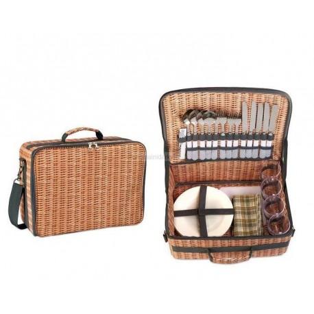 Piknik taška v designu koše